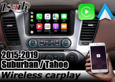 Chevrolet Tahoe Suburban wireless carplay interface box with androif auto youtube play Lsailt Navihome GMC Yukon